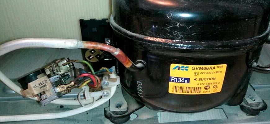 Замена пускового реле холодильника